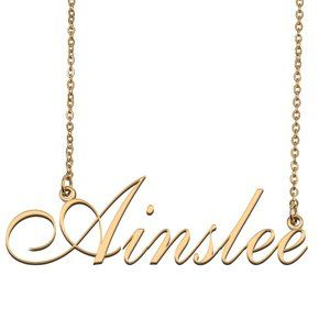 Custom Personalized Ainslee Name Necklace